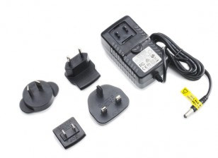 Power Supply 12V 3A with Interchangeable Plug Adapters (US. EU, UK, AU)