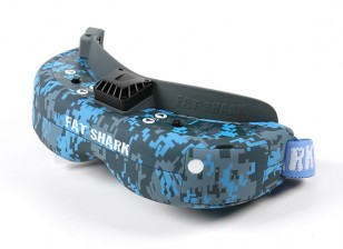 FatShark Dominator V3 Hydro-Dipped Urban Cam Blue and Grey FPV Goggle