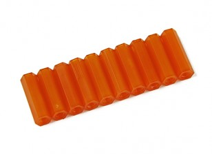 Nylon Spacer 20mm M3 F/F Orange (10pcs)