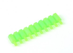 Nylon Spacer 10mm M3 M/F Green (10pcs)