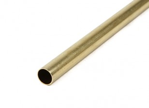 K&S Precision Metals Brass Round Stock Tube 9mm OD x 0.45mm x 1000mm (Qty 1)