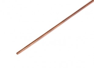 K&S Precision Metals Copper Round Stock Tube 2mm OD x  0.36mm x 1000mm (Qty 1)