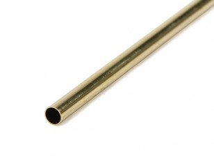 K&S Precision Metal Brass Round Thin Wall Tube 4.5mm OD x  0.225mm x 1000mm