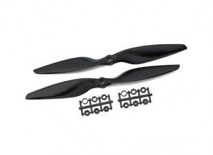 Gemfan Glass Nylon 1045 2- Bladed Propeller Black (CW/CCW) (1 Pair)