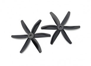 Gemfan Bullnose Polycarbonate 5040 6-Bladed Propeller Black (CW/CCW) (1 Pair)