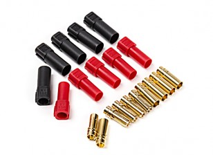 XT150 Battery Side w/6mm Gold Connectors - Red & Black (5pairs/bag)