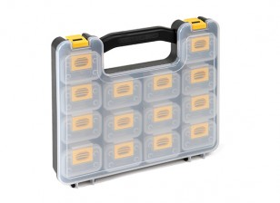 Plastic Multi-Purpose Organizer - 14 Compartments with Removable Storage Containers