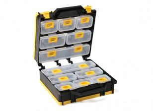 Plastic Multi-Purpose Organizer - Gatefold Style 12 Compartments