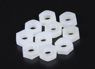 M3 Nylon Nut (10pcs/bag)