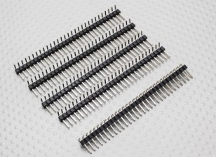 90 Degree Pin Header 1 x 30 Pin 2.54mm Pitch  (5PCS)