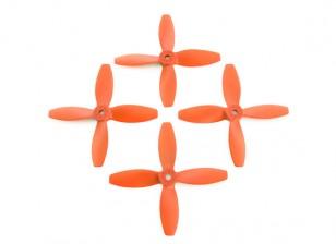 Lumenier FPV Racing Propellers 4040 4-Blade Orange (CW/CCW) (2 Pairs)