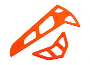Neon Orange Fiberglass Horizontal/Vertical Fins Trex 600