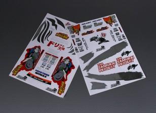 Self Adhesive Decal Sheet - Team Samurai 1/10 Scale