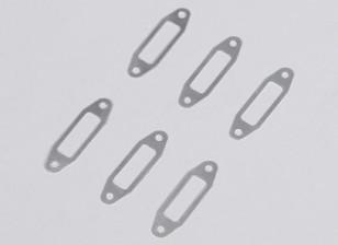 Aluminum Muffler Gasket 1mm for OS .61~.91 Glow Engine (6pcs/bag)