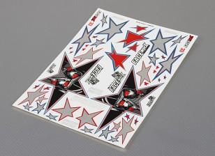Self Adhesive Decal Sheet - Evil Black Star 1/10 Scale