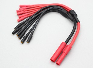 HXT 4mm to 6 X 3.5mm bullet Multistar ESC Power Breakout Cable