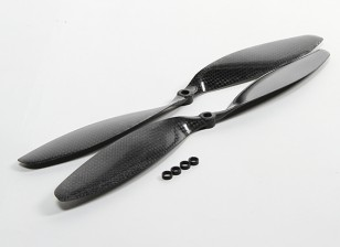 Carbon Fiber Propeller 12x3.8 Black (CW/CCW) (2pcs)