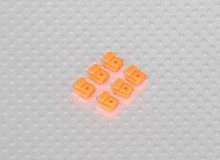 Servo Mount Tabs for Helicopter Frame (6pcs/bag) - Orange