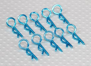 Small-ring 45 Deg Body Clips (Blue) (10Pcs)