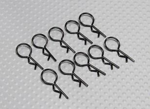 Medium-ring Body Clips (Black) (10Pcs)