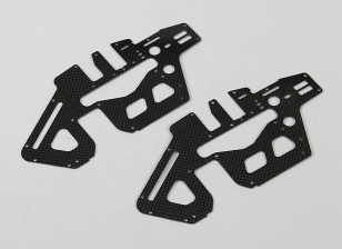 Trex/HK450 PRO 1.2mm Carbon Fiber Main Frame Side Set (2pcs/bag)