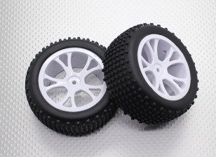 Rear Buggy Tyre Set (Split 5-Spoke)  - 1/10 Quanum Vandal 4WD Racing Buggy (2pcs)
