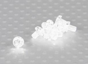 Transparent Polycarbonate Screws M3x4mm - 10pcs/bag