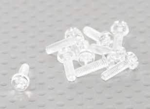 Transparent Polycarbonate Screws M3x10mm - 10pcs/bag