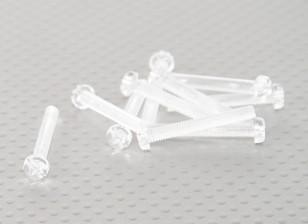 Transparent Polycarbonate Screws M4x30mm - 10pcs/bag