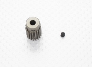 """""""Hard One"""" 0.7M Hardened Helicopter Pinion Gear 5mm Shaft - 18T"""