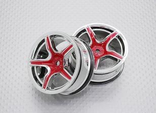 1:10 Scale High Quality Touring / Drift Wheels RC Car 12mm Hex (2pc) CR-C63R