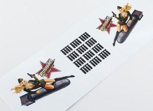 "Nose Art - ""Russian Ta Get Ya!"" L/R Hand Decal"