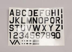 Letters/Symbols Black-Silver Luftwaffe Style (Med) Style 1