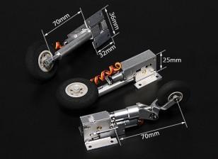 Turnigy Full Metal Servoless Retracts with Oleo Legs (Tricycle, Habu type)