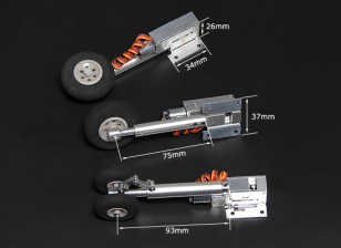 Turnigy Full Metal Servoless Retracts with Oleo Legs (Tricycle, F-4 type)
