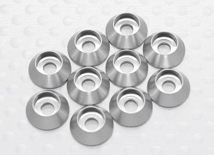 Sockethead Washer Anodised Aluminum M3 (Silver) (10pcs)