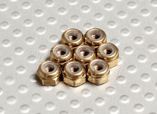 Titanium Color Anodised Aluminum M3 Nylock Nuts(8pcs)