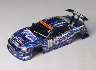 1:10 GP Sports S15 Silvia Finished Body Shell w/LED Buckets