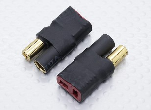 5.5mm Bullet Connector to T-Connector Battery Adapter Lead (2pc)