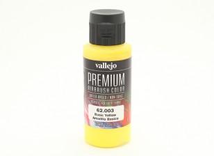 Vallejo Premium Color Acrylic Paint - Basic Yellow (60ml) 62.003