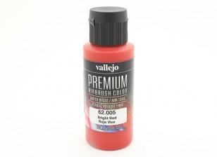 Vallejo Premium Color Acrylic Paint - Bright Red (60ml) 62.005