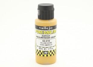 Vallejo Premium Color Acrylic Paint - Yellow Ochre (60ml) 62.015