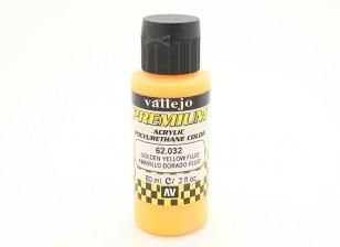 Vallejo Premium Color Acrylic Paint - Golden Yellow Fluo (60ml) 62.032