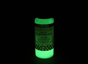 Vallejo Premium Color Acrylic Paint - Phosphorescent (60ml) 62.040