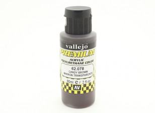Vallejo Premium Color Acrylic Paint - Candy Brown (60ml) 62.078