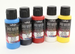 Vallejo Premium Color Acrylic Paint - Basic Opaque Selection (5 x 60ml)