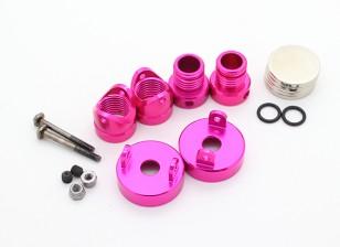 Invisible Aluminum Body Mount Posts (2pcs) Pink