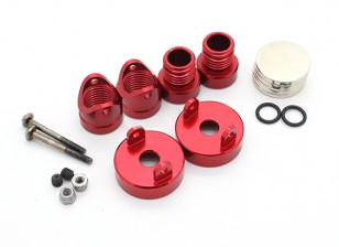 Invisible Aluminum Body Mount Posts (2pcs) Red