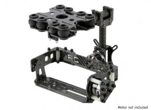 Shock Absorbing 2 Axis Brushless Gimbal Kit for Card Type Cameras - Carbon Fiber Version