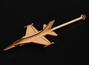 F-16 Practice Stick Plane Laser Cut Wood Model (Kit)